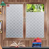 "Privacy Window Film Frosted Window Stickers Self Adhesive Static Glass Window Blinds 45*200cm (17.7""*78.7"") for Bedroom Bathroom Living Room Office"