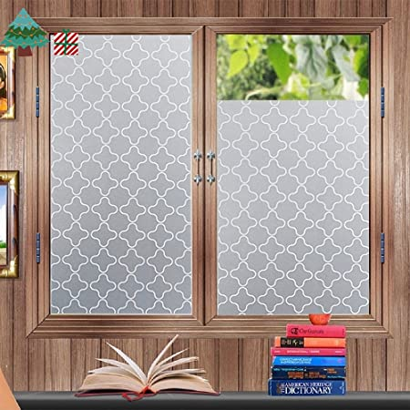 Privacy window film frosted window stickers self adhesive static glass window blinds 45200cm