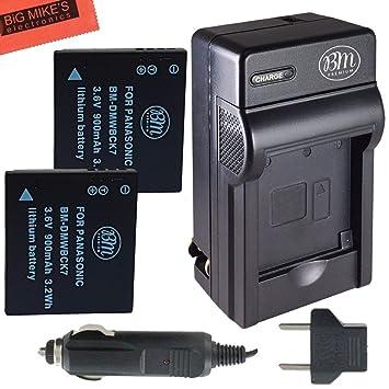 Amazon.com: Pack de 2 baterías DMW-BCK7 y cargador de ...
