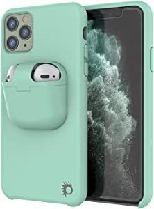 Punkcase iPhone 11 Pro Max Airpods Case Holder (CenterPods Series) | Slim & Durable 2 in 1 Cover Designed for iPhone 11 Pro Max (6.5