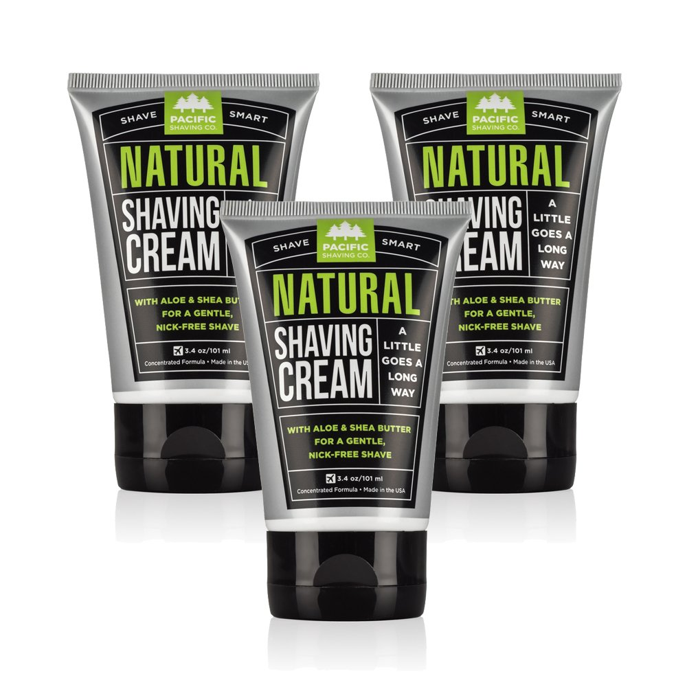 Pacific Shaving Company Natural Shaving Cream, 3 Pack
