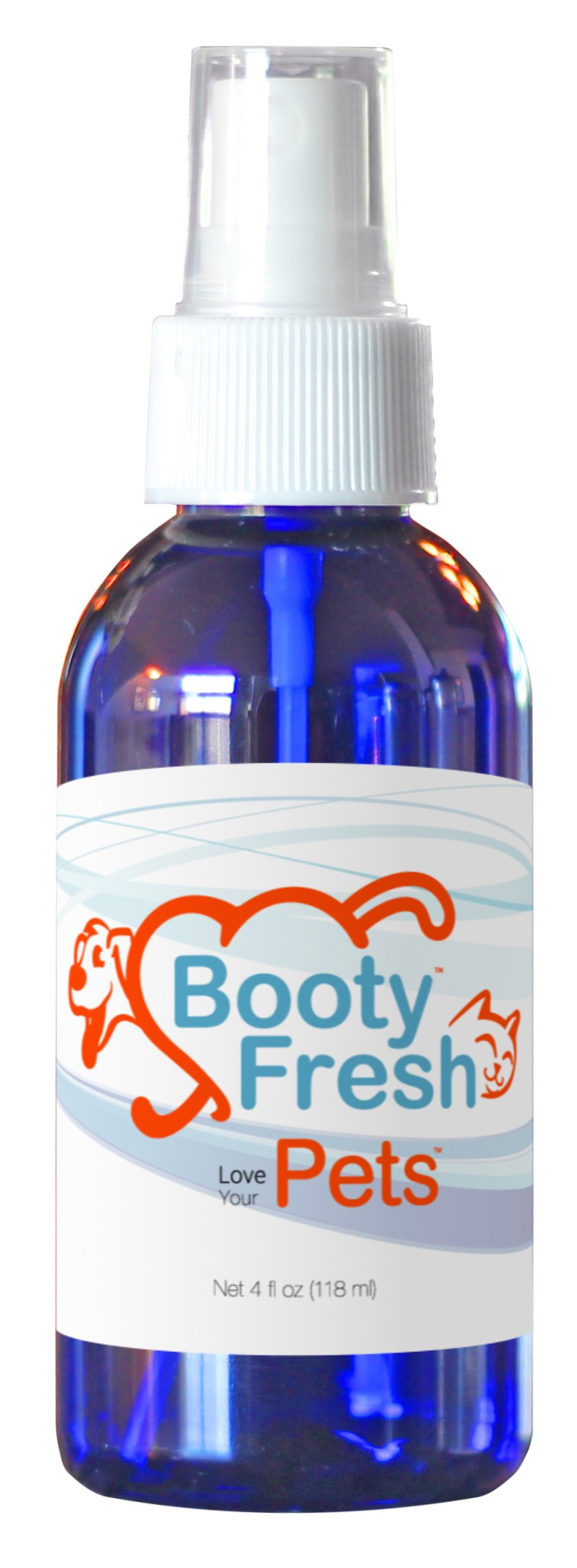 Booty Fresh Pets - Cat and Dog''Back Side'' Odor Lifting Neutralizing Spray - Extra Strength but Safe and Gentle - Spray On Directly & Rinse to Remove Difficult Smells - A Miracle in a Bottle by Booty Fresh