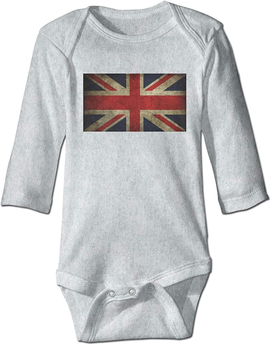 Marsherun Babys Boys and Girls British Flag Long Sleeve Bodysuit Playsuit