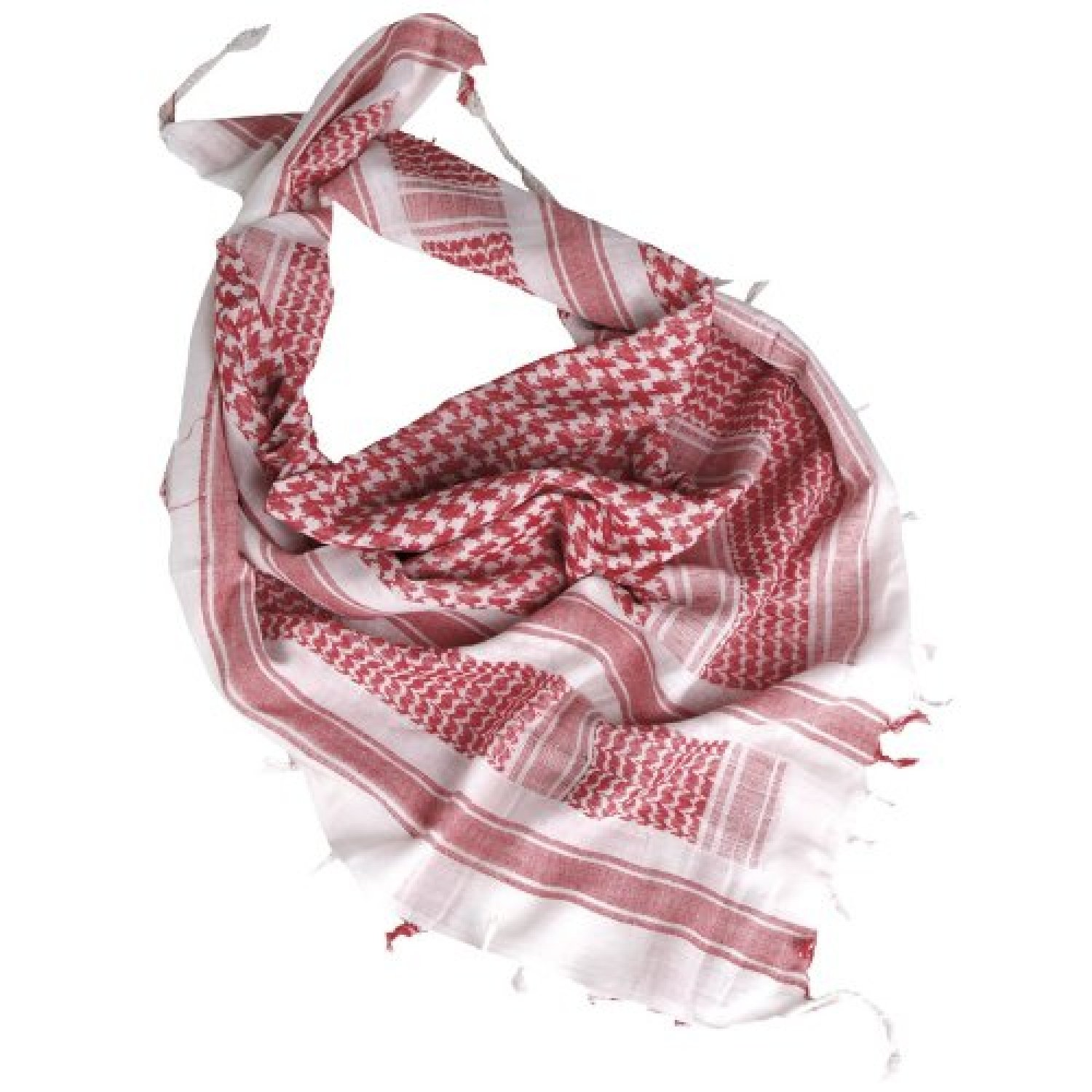 Mil-Tec Men s Tactical Shemagh Army Scarf Military Shermag Head Wrap One Size White Red
