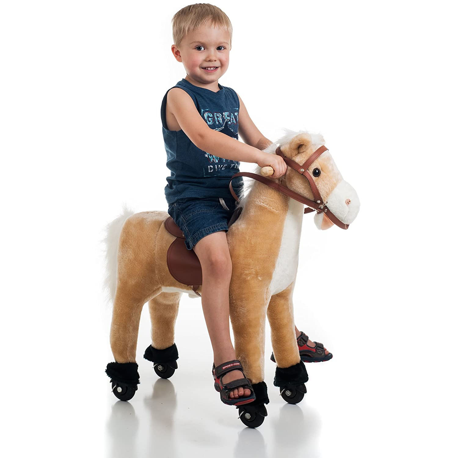 Happy Trails Plush Walking Horse with Wheels and Foot Rest 80-90WALK