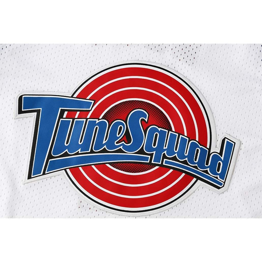 Auart Mens Jersey # 2 Daffy Duck Tune Squad Film Space Jam Classic Edizione commemorativa Basketball Fan Vintage Giovent/ù Senza Maniche Tops