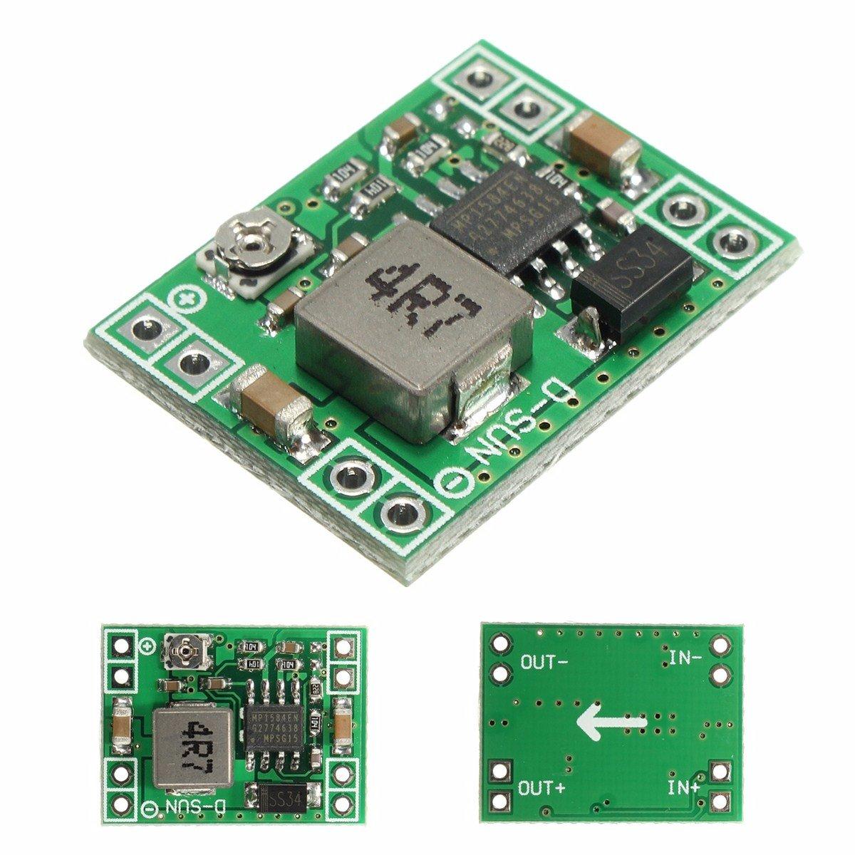 5pcs Mini MP1584EN DC-DC BUCK Adjustable Step Down Module 4.5V-28V Input 0.8V-20V Output - Arduino Compatible SCM & DIY Kits