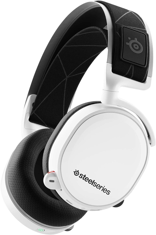 Steelseries Arctis 7 Auriculares De Juego, Inalámbricos Sin Pérdidas, Dts Headphone:X V2.0 Surround Para Pc Y PlayStation 4, Blanco