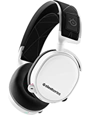 SteelSeries Arctis 7 Cuffie da Gioco, Wireless Senza Perdite, Tecnologia Surround DTS Headphone:X v2.0 per PC e PlayStation 4, Senza Fili, Bianco [Edizione 2019]