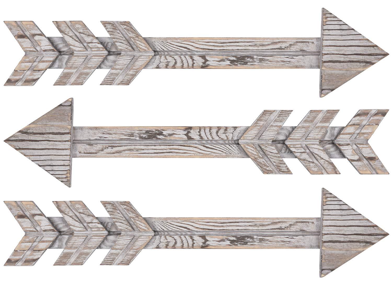TIMEYARD Wood Arrows Wall Decor, Set of 3 Farmhouse
