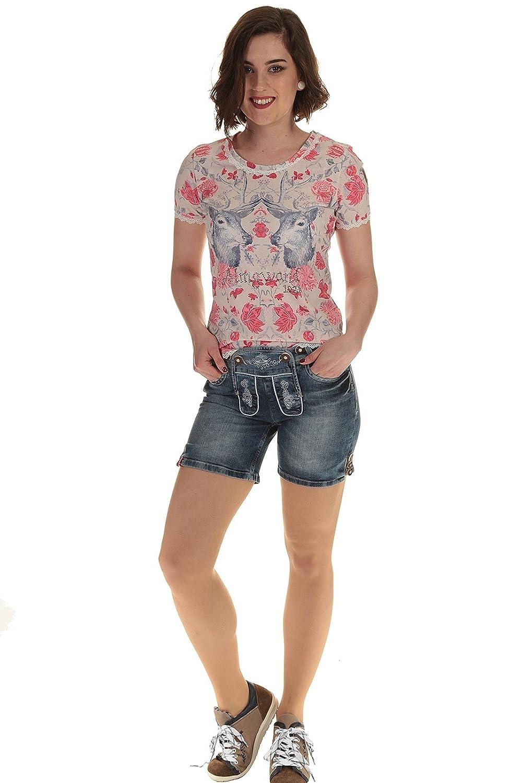 Moser Bekleidung Damen Hose kurz Lederhose kurz Jeans Trachtenshorts Damen