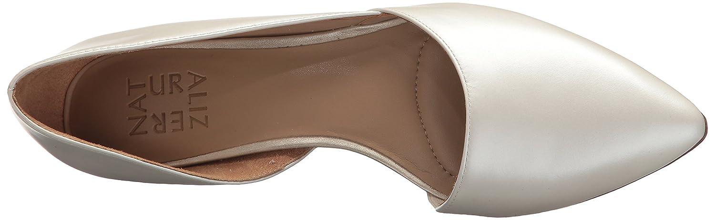 Naturalizer Women's Samantha Pointed Toe Flat B0756L2C4L 8.5 N US|White Pearl