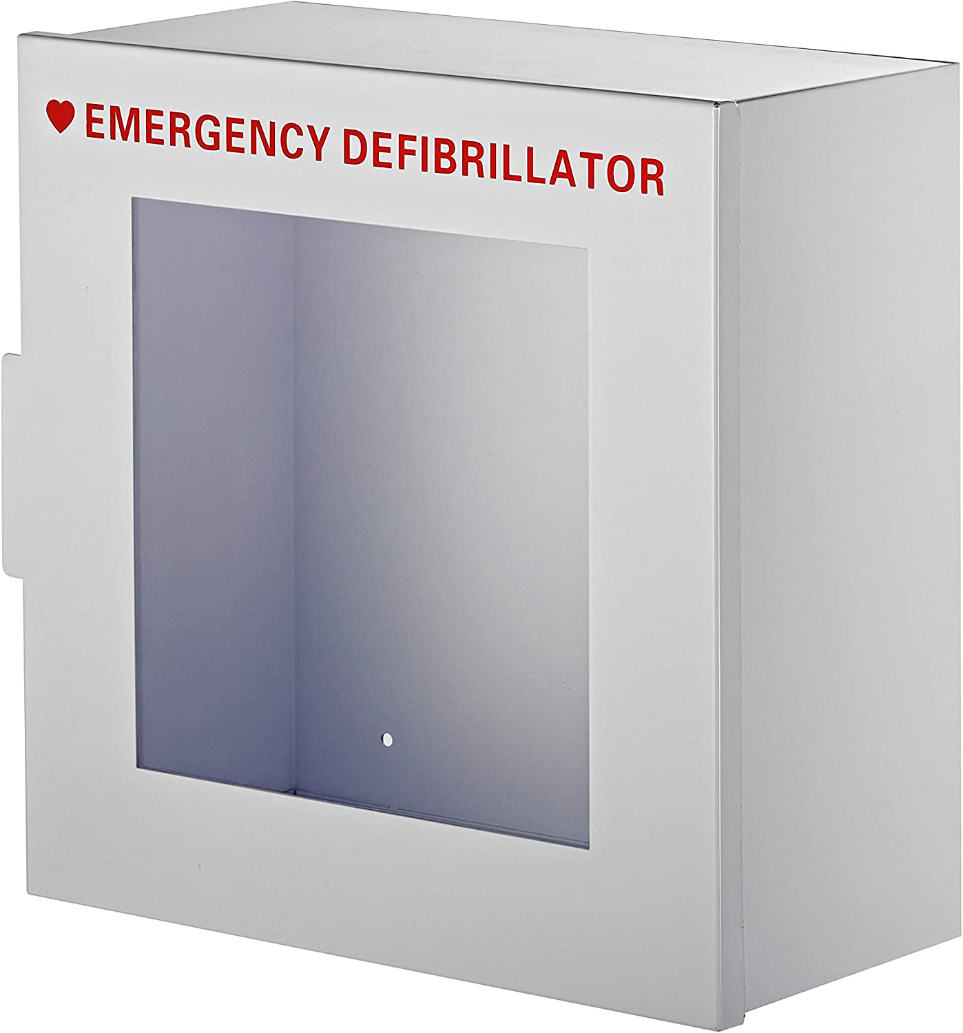 AdirMed Non-Alarmed Steel Cabinet Defibrillators 15 W x 15 H x 7 – Standard Wall Mounted Enclosure – Easy Access Storage for Emergency Situation for Home Office