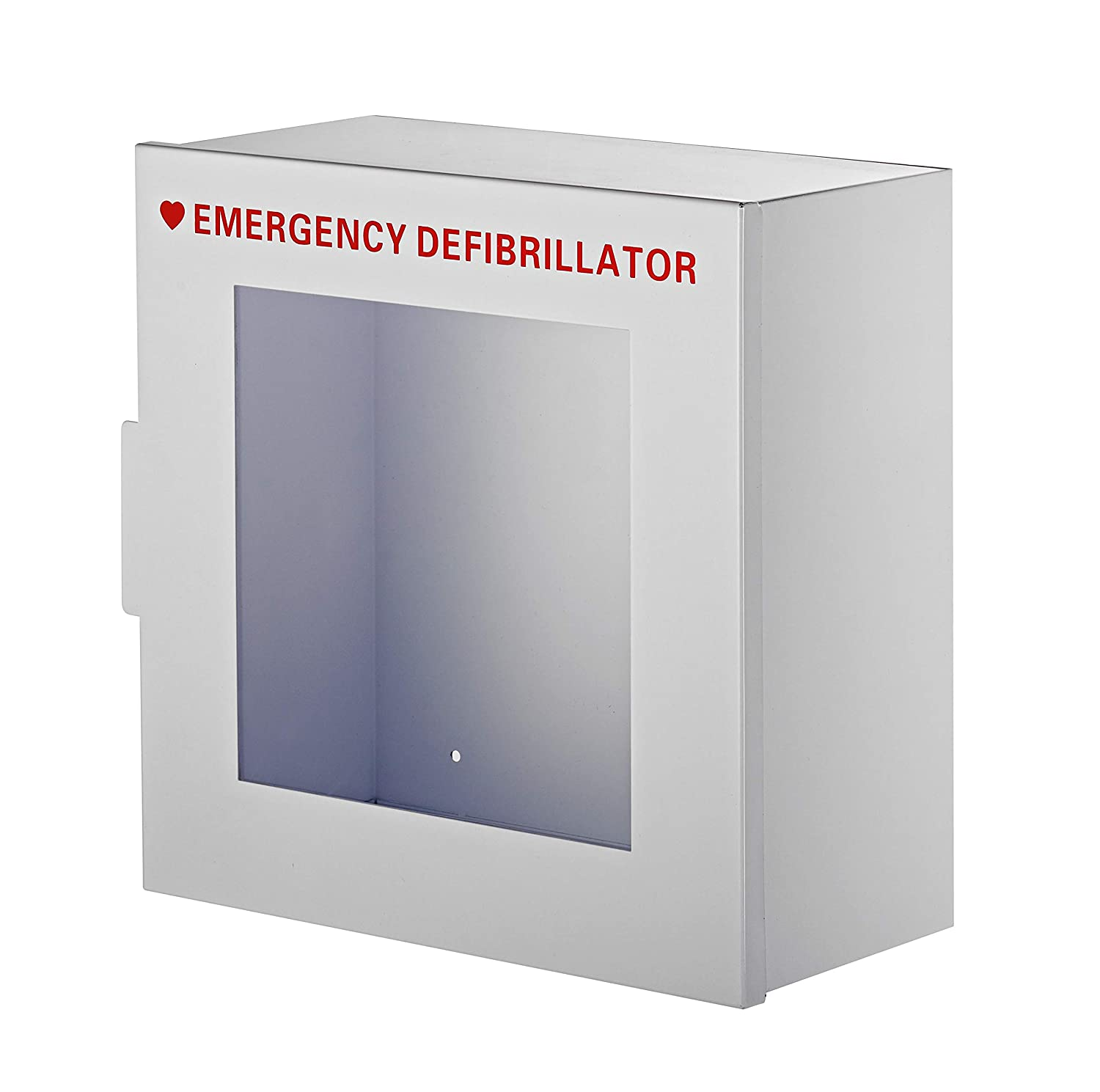 "AdirMed Non-Alarmed Steel Cabinet Defibrillators 15"" W x 15"" H x 7"" - Standard Wall Mounted Enclosure - Easy Access Storage for Emergency Situation for Home & Office"