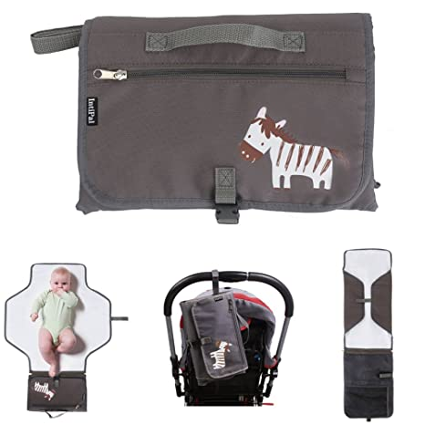 afffe825f Bolso cambiador con bolsillos de almacenamiento de IntiPal Grey Zebra