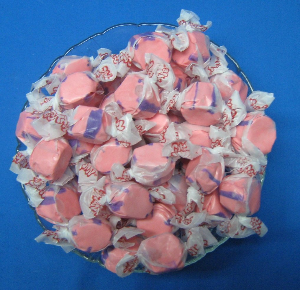 Pomegranate Flavored Taffy Town Salt Water Taffy 2 Pounds