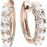 1-5 Carat Huggies Hoop Diamond Earrings 14K Gold Premium Collection