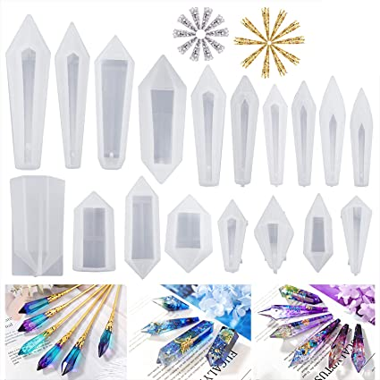 clear silicone mold Pendulum long pointed crystal with wide base