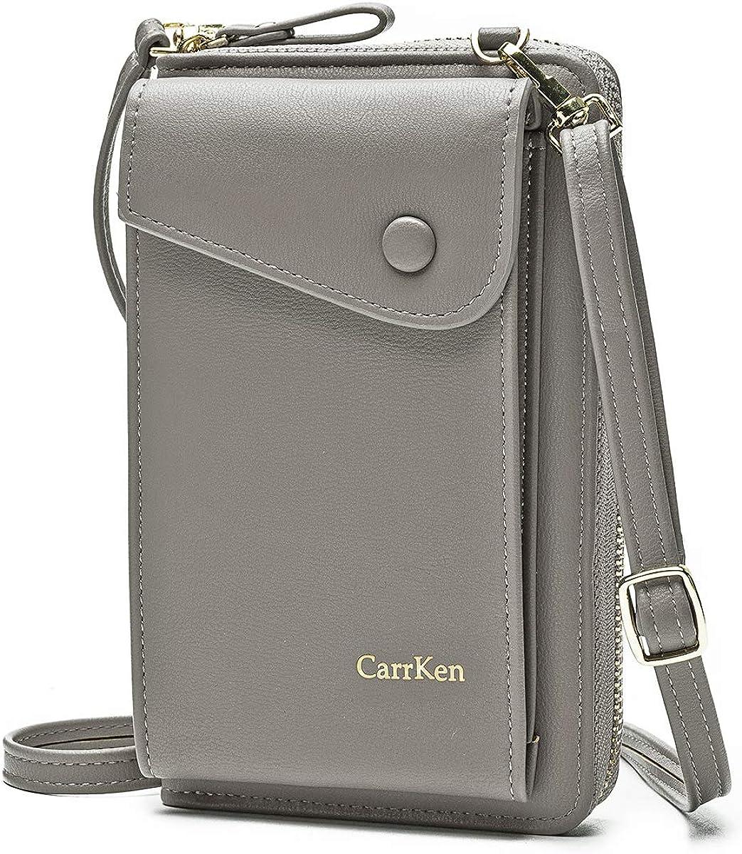 JOSEKO Ladies Crossbody Bags Stylish Women Leather Wallet Cute Small Coin Purse Mini Shoulder Bag Travel Clutch Bag Phone Bag