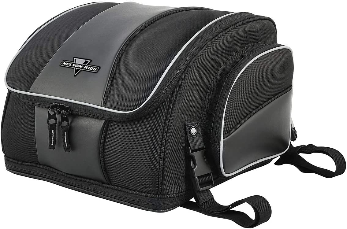 Nelson-Rigg NR-215 Route 1 Weekender Backrest Rack Bag, Black, One Size