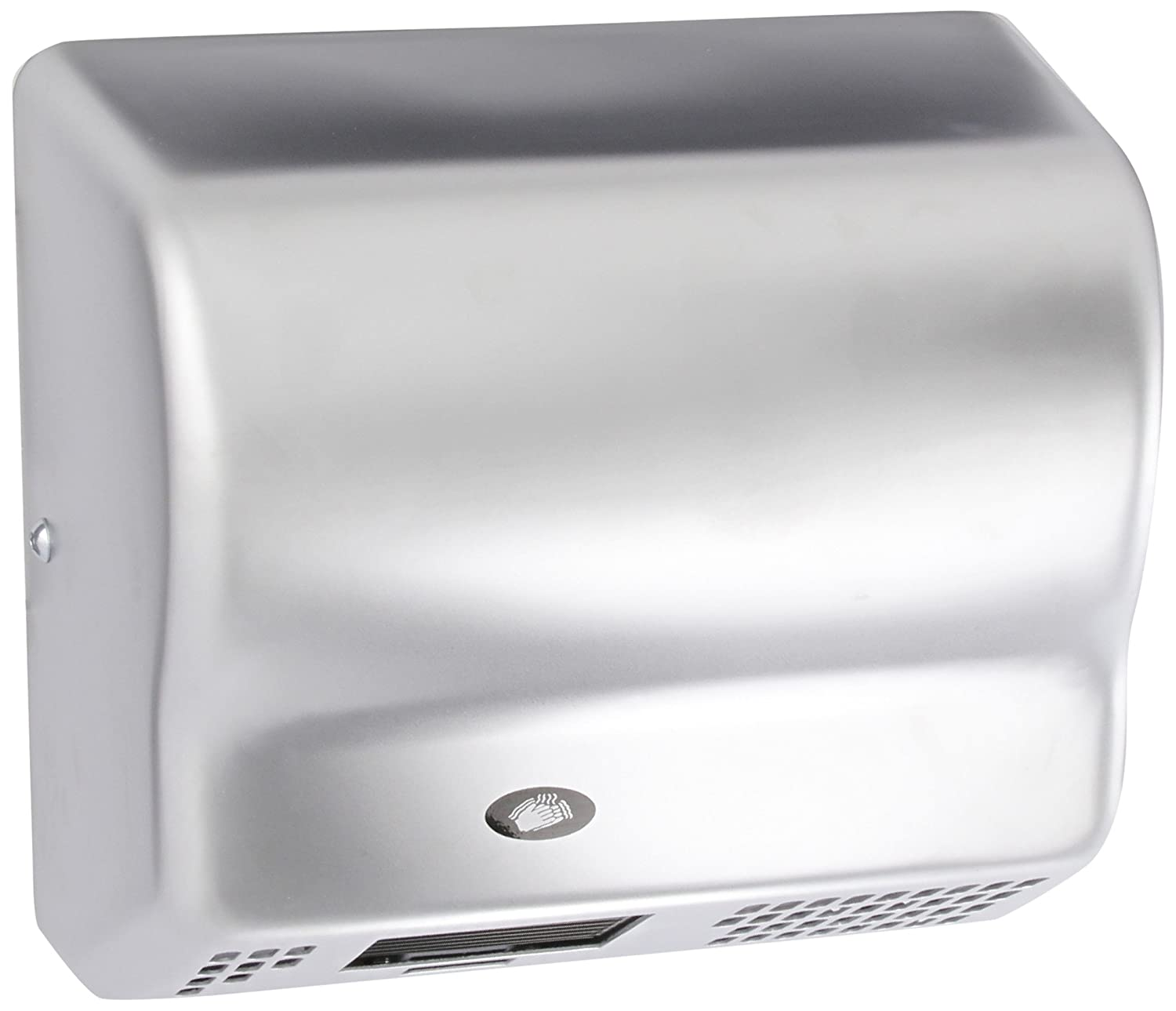 American Dryer Global GX3-C Steel Cover Automatic Hand Dryer, 208-240V, 1,500W Power, 50/60Hz, Satin Chrome Finish Inc. 85a