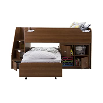 South Shore Furniture Mobby Twin Loft Bed With Trundle And Storage