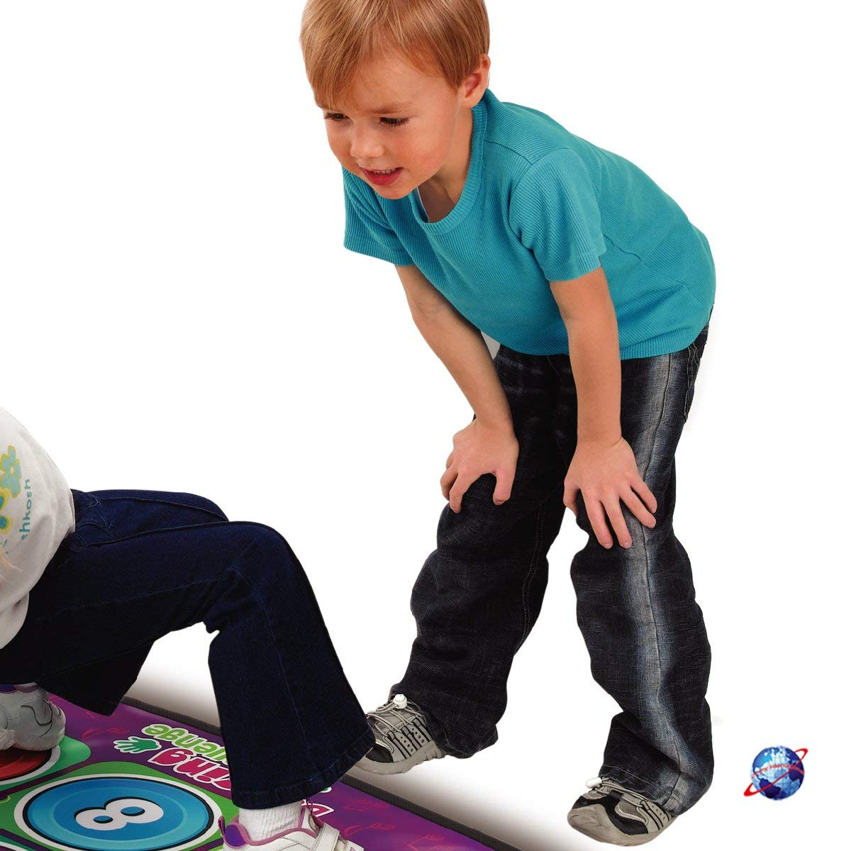 WEWE Wireless Dance Pad,Children Game Fitness Dance Mat Double Foldable Dance Revolution Hd Tv Computer Dual-d 165x95cm(65x37inch) by WEWE (Image #2)