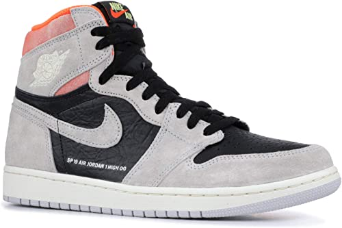 Amazon Com Air Jordan 1 Retro High Og Grey Crimson 555088