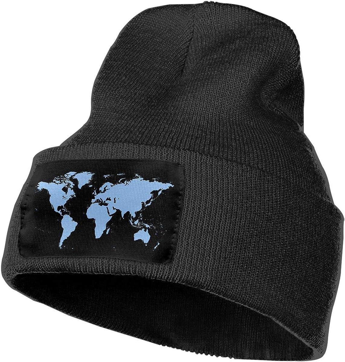 COLLJL-8 Men /& Women Clipart World Map Outdoor Stretch Knit Beanies Hat Soft Winter Knit Caps