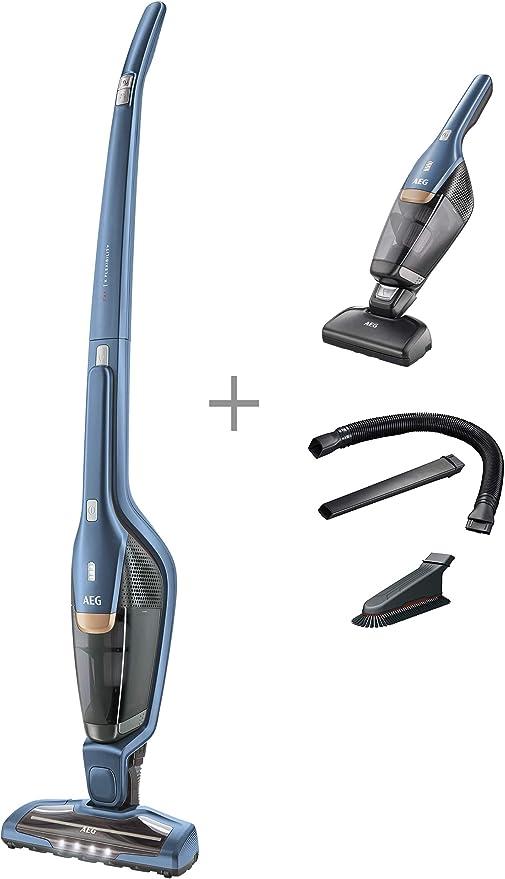 AEG 2 in1 – Aspiradora de mano con batería indigo blau: Amazon.es ...
