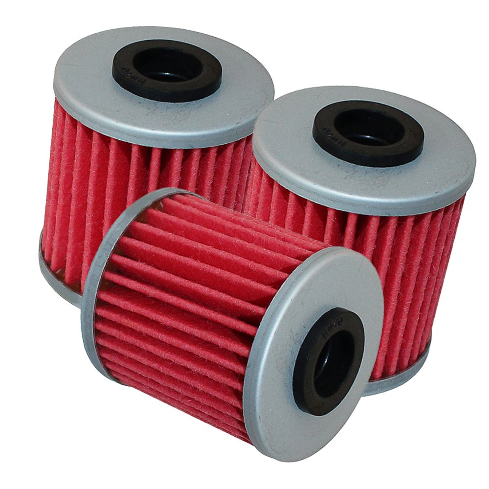 Caltric 3-PACK Oil Filter Fits SUZUKI SDW ADDRESS 250 RMZ450 450 RMZ250 RMZ-250 250 2007-2018 by Caltric (Image #1)