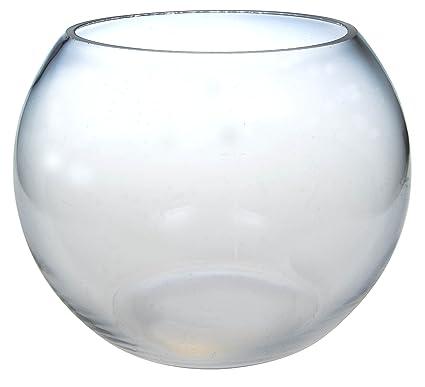 Supgod 25cm Clear Glass Fish Bowl Vase Wedding Home Table