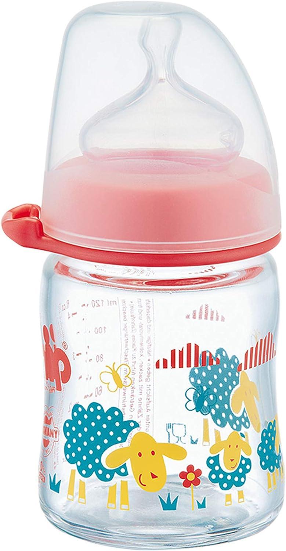 زجاجة رضاعة واسعة العنق من الزجاج من نيب بسعة 120 مل