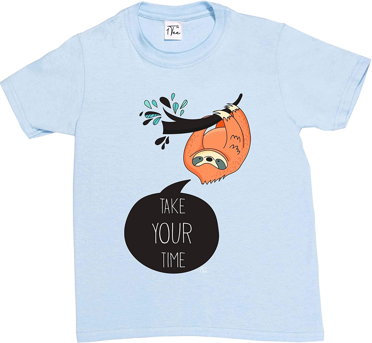 1Tee Womens Take Your Time Sloth T-Shirt