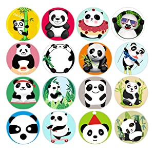 Aligle 16pcs Beautiful Glass Refrigerator Magnets animal Fridge stickers Funny for Office Cabinets Whiteboards Decorative Photo Abstract Panda