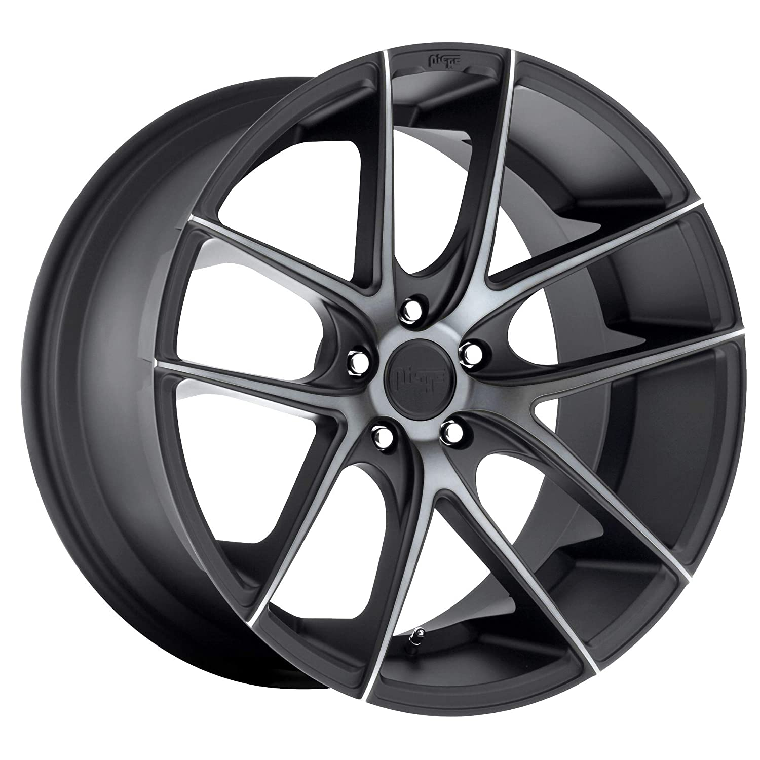 Niche 1PC Targa 20X8.5 5X120.00 Matte Black Double Dark Tint (15 MM) Wheel