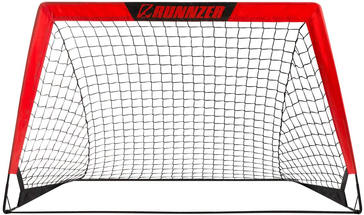 RUNNZER Portable Soccer Goal, Soccer Nets for Backyard Training Goals for Soccer Practice with Carry Case