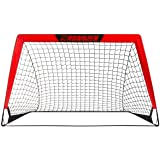 RUNNZER Portable Soccer Goal, Soccer Nets for Backyard Training Goals for Soccer Practice with Carry Case, 3.3'/4.5' x 2.5'