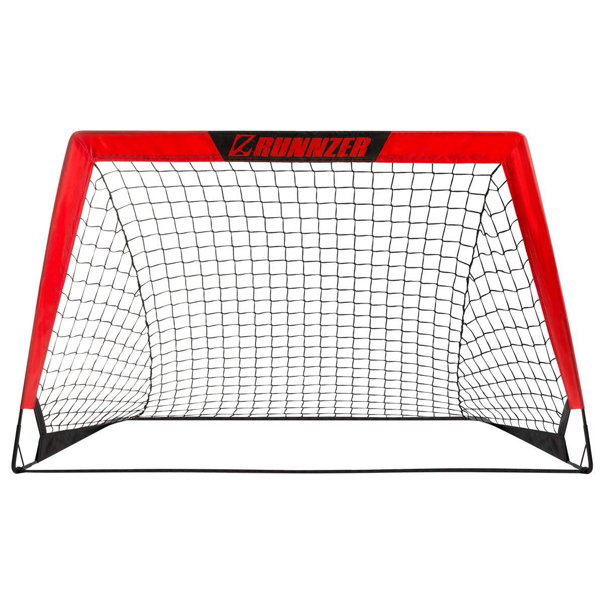 RUNNZER Portable Soccer Goal, Soccer Nets for Backyard Training Goals for Soccer Practice with Carry Case, Set of 1, 3.3'/4.5' x 2.5' by RUNNZER