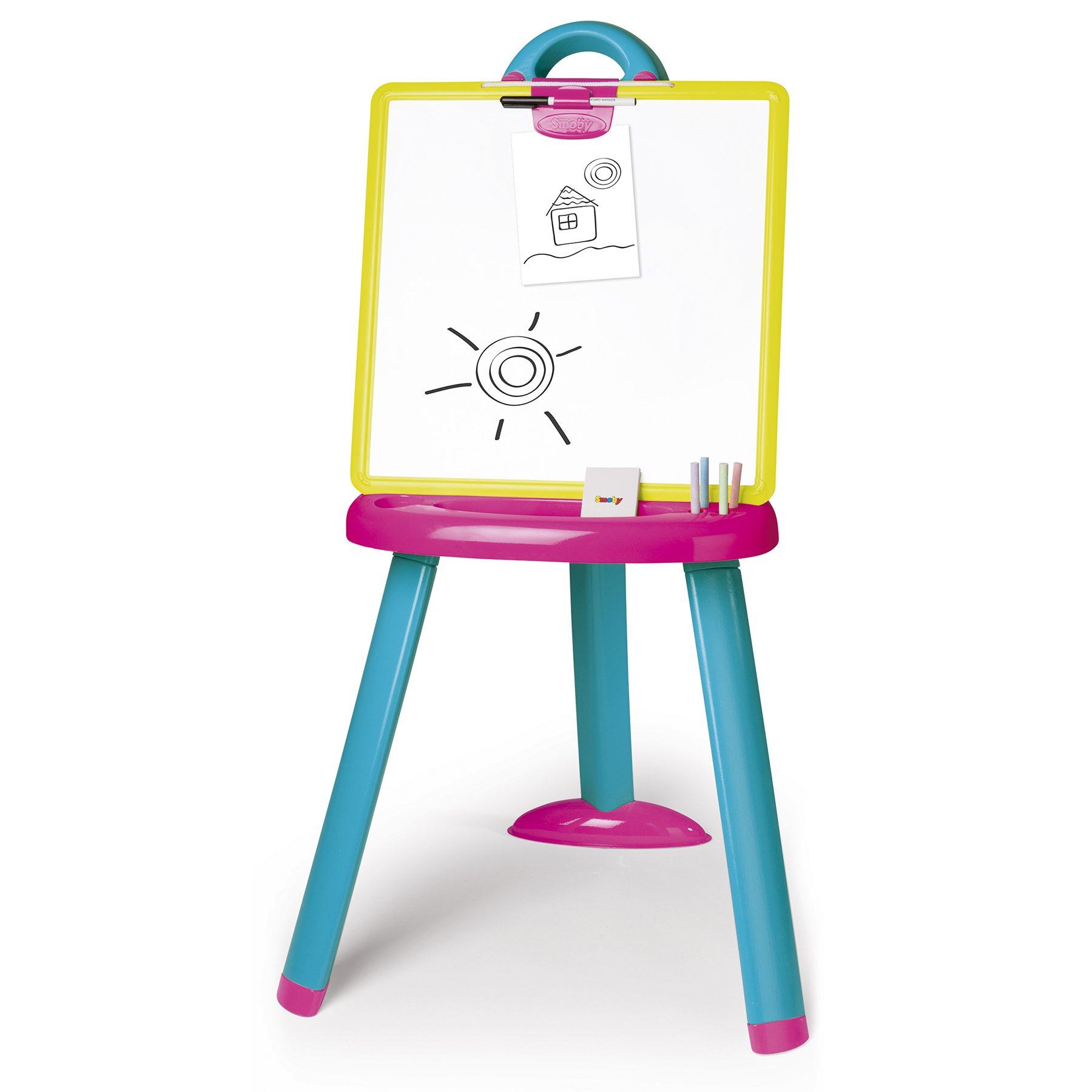 Smoby 410608 Plastic Board Easel, Pink by Smoby
