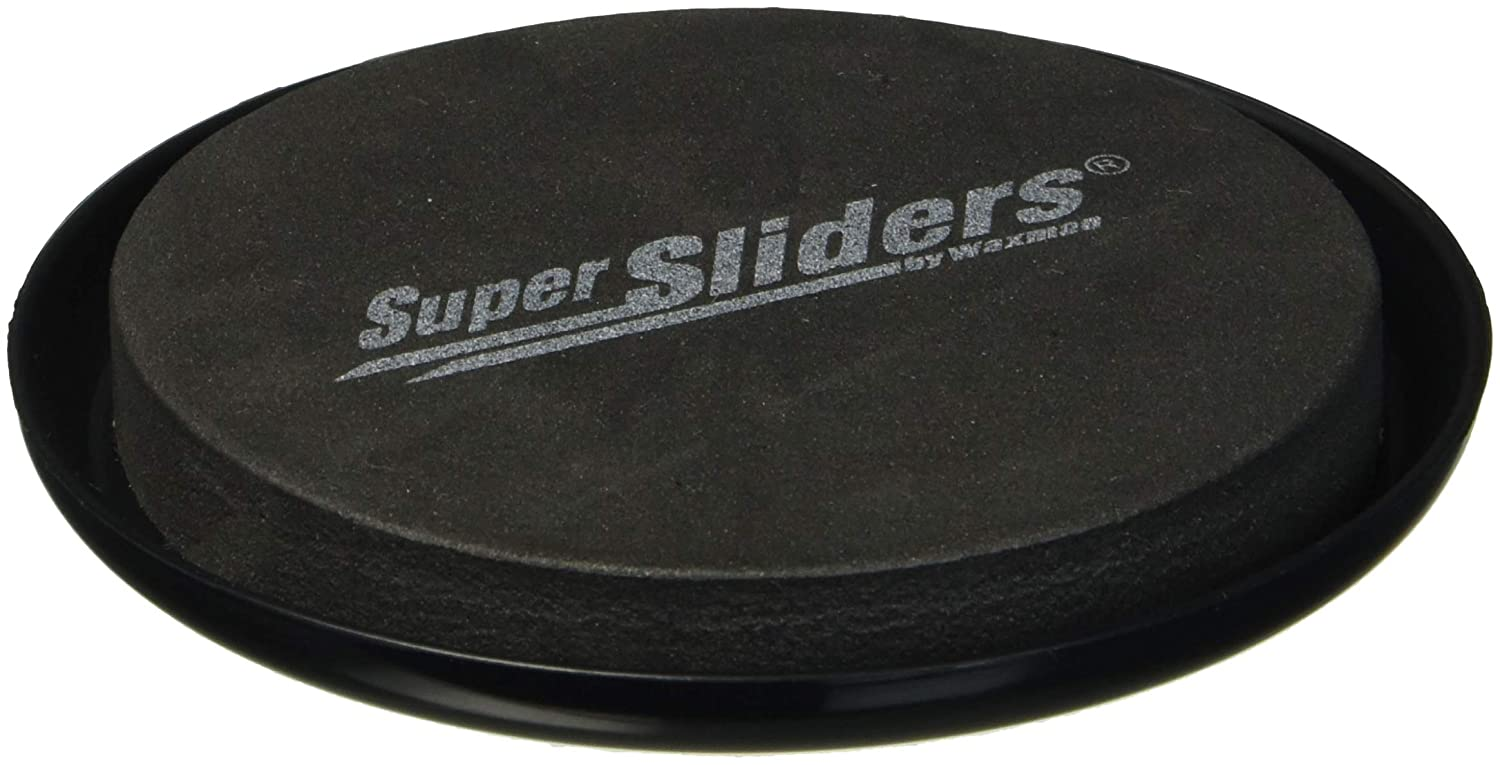 "SuperSliders 4763395N Reusable Furniture Sliders for Carpet- Quickly and Easily Move Any Item, 3-1/2"" Black (4 Pack)"