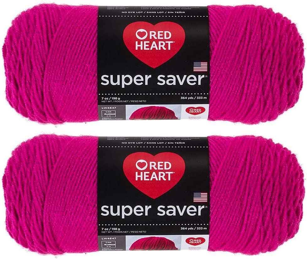 Bulk Buy Blue, 7 oz each skein Red Heart Super Saver 2-pack