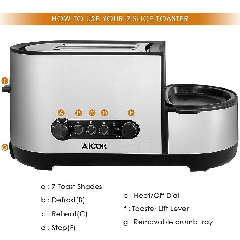 Aicok Grille-Pain en Cuiseur à Œufs, Grille-Pain/Toaster Large ...
