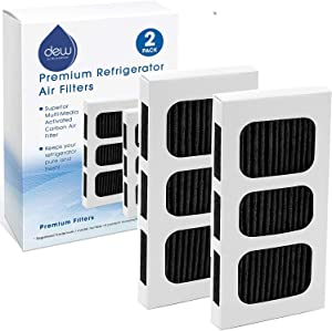 Dew by BluesWater | Air Filter Pleated For Refrigerator | Compatible with Paultra2 ultra 2 Pure Air 5303918847 | 2 Filter Pack | Replacement Active Carbon Filters
