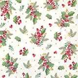 MERRY CHRISTMAS COW cocktail tea napkins 20 pack 25cm square 3 ply