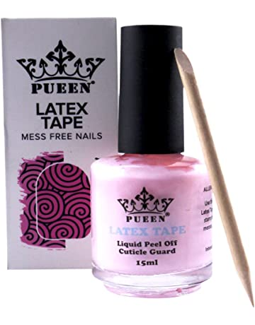454307b560af PUEEN Latex Tape Peel Off Cuticle Guard Skin Barrier Protector Nail Art  Liquid Tape 15ml Pink