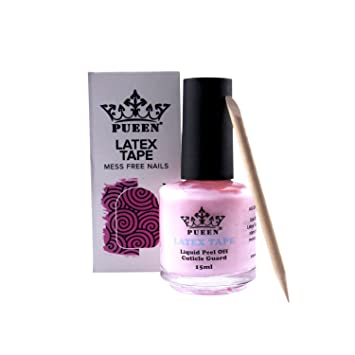 latex tape peel off cuticle guard skin barrier protector nail art liquid pink remover cream