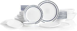 product image for Corelle Service for 12, Chip Resistant, Classic Café Blue Dinnerware Set, 78 Piece
