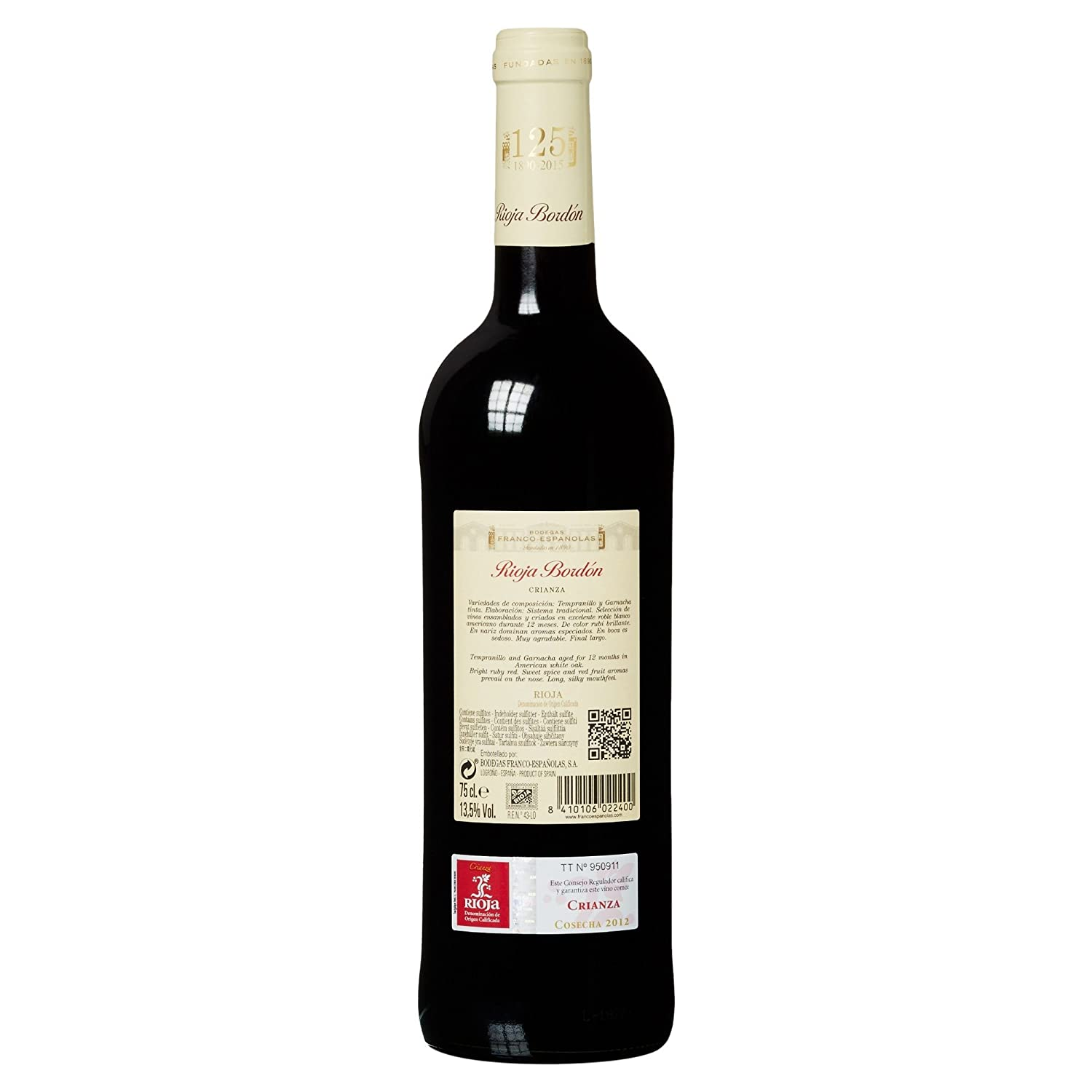 Rioja Bordon - Vino Crianza Botella 75 cl