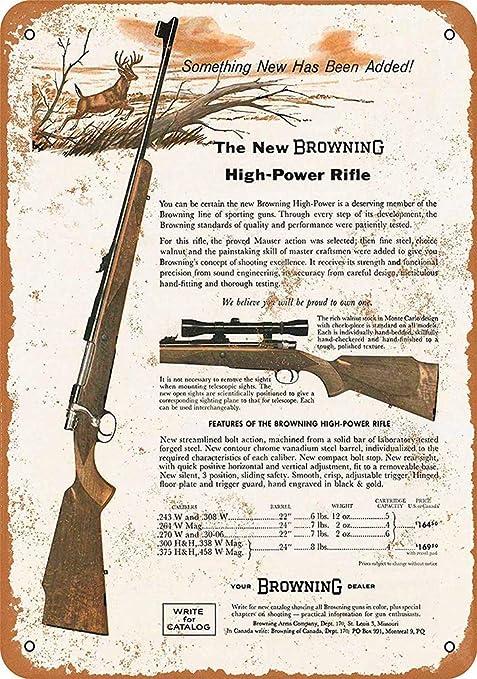 SALWON Browning Rifles -Cartel De Chapa Advertencia Placa ...